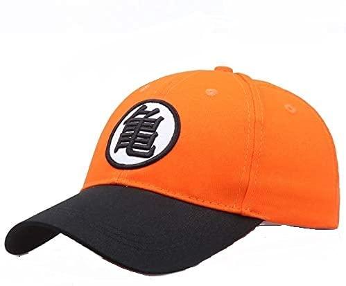 Gorra De Béisbol Dragon z Goku De Anime Borde Curvado Sombrero Snapback Naranja Y Negro,Costuras Bordadas.