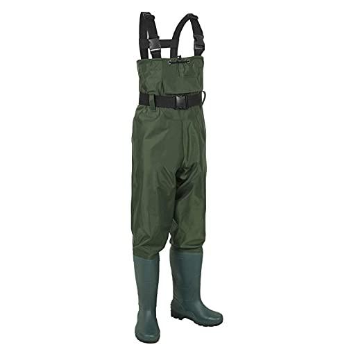 Pantalones de pesca para hombres, mono de nailon de media longitud para niños adultos, pantalones de pesca impermeables, pantalones de cuero con horquilla de agua, pantalones y botas impermeables