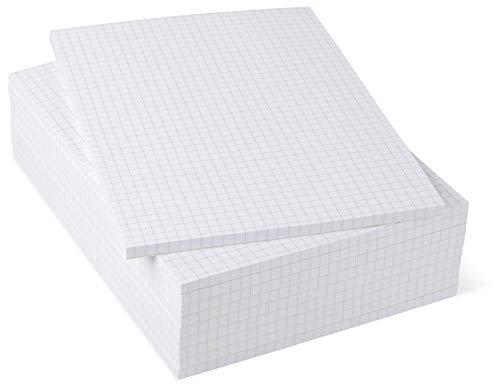 Notizblock A5 kariert 10er Pack, 50 Blatt je Block 80 g/m² Offset weiß