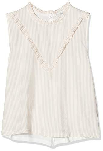 Mavi Damen Blouse Bluse, Rosa (White/Rose Dust Stripe 25160), Large