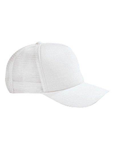 BX010 BX BX010 5 PN TWILL TRUCKR CAP WHITE OS