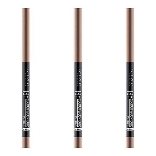 Catrice 18h Colour & Contour Eye Pencil, Kajal, Nr. 050 Copper Kiss, braun, definierend, langanhaltend, schimmernd, vegan, Nanopartikel frei, ohne Parfüm, 3er Pack (3 x 0,3g)