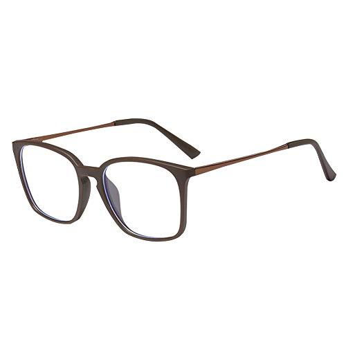 Xinvivion Herren Blaulicht Blockierung Computer Brille - Anti-Augenmüdigkeit Linse TR90 Rahmen Frühlings-Scharnier Brillen (Braun)