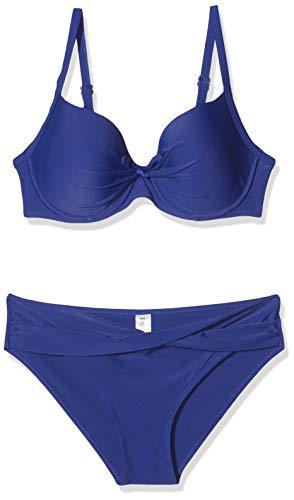 LingaDore Damen Ibiza Moulded Bra & Brief Bikinioberteil, Blau (Blue 121), 38D (Herstellergröße: 38)