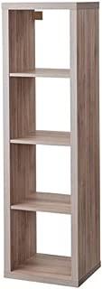 Ikea Kallax 1x4 Shelf Unit Walnut Effect Light Gray 303.601.47