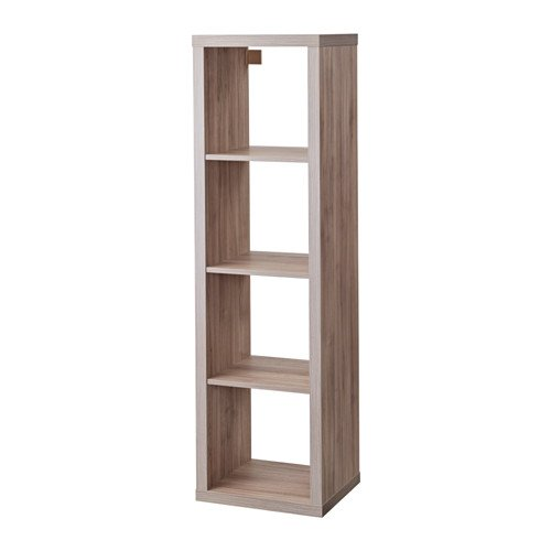 Ikea Kallax 4x4 Shelf Unit Walnut Effect Light Gray 003.601.44