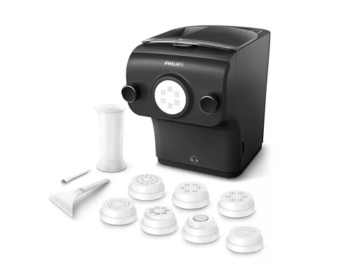 Philips Avance Automatic Pasta & Noodle Maker Plus with 8 Interchangeable Pasta Shaping Discs, Black...