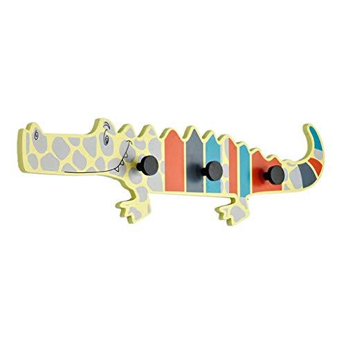 Patères pour manteaux Crochet de manteau animal de crocodile de personnalité Crochet de mur Crochet de clé de couloir (Size : 67x16.5x5cm)