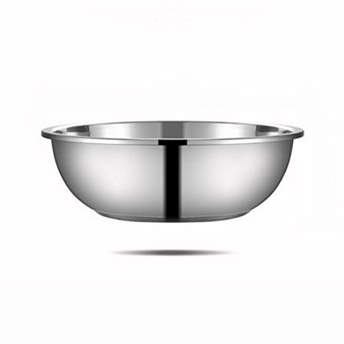 Liuyu Kitchen Home 304 Deep Deep Deep Stainless Steel Pot Cuisine Epices Basin Wash Vegetables Pots Mixing Bowl Home Soupe Basin (taille : 26cm)