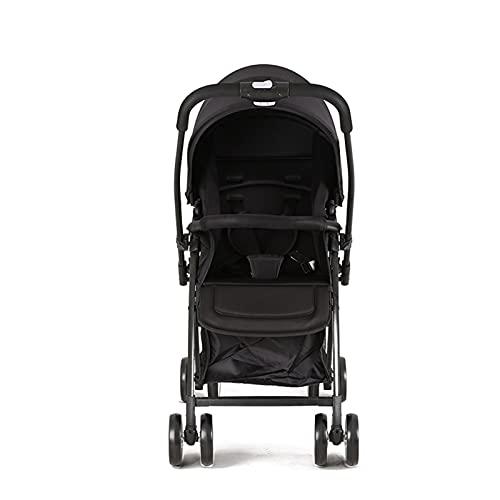 HYAN Cochecito para niños, Puede Sentarse y acostarse, Mini luz portátil, Plegado de Dos vías, Caminata de Paraguas para niños con Dosel extraíble (Color : B)