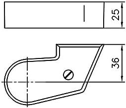 Afdekkap GEZE voor draaghendel EV 1 DIN rechts