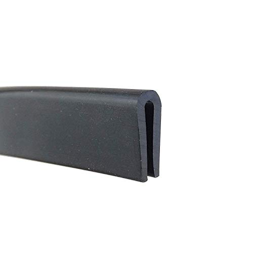 M M SEALS Edge Trim Rubber, Fits Edge up to 1/16 inch (1.6mm), Length 5 Feet (1.55 Meter)