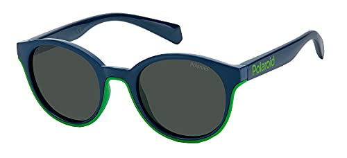 Polaroid PLD 8040/s RNB/M9 Blue Green 44, Gafas Unisex niños, Small