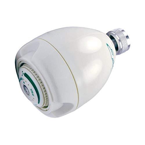 Earth Showerhead - Niagara Conservation | Energy & Water Saving Showerhead (1.25 GPM) High-Efficiency 3-Spray White Fixed Shower Head (N2912)