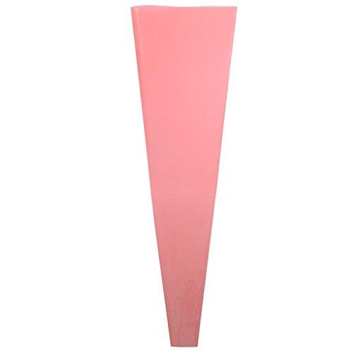 Mikolot 50pcs Single Rose Plastic Pakket Transparant Bloem Inpakpapier (Rood)