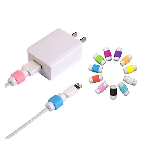10PCS Cable Saver Protector for USB Lightning Cable Iphone Earphones Protector , Random Color
