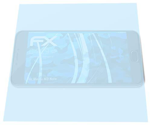 atFolix Schutzfolie kompatibel mit Meizu M3 Note Folie, ultraklare FX Bildschirmschutzfolie (3X)