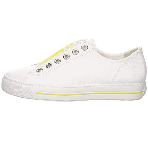 Paul Green Damen Slip-On-Sneaker 4797, Frauen Low-Top Sneaker, sportschuh Lady Ladies feminin elegant Women's Women Woman,White/Sun,41 EU / 7.5 UK