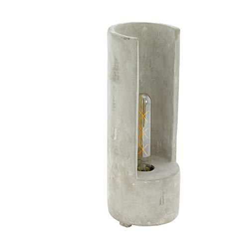 Eglo Lynton - Lámpara de mesa, Hormigón, gris, Höhe 37 cm