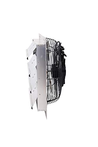 Fanpac S163 Wall-Mounted 3 Speed Shutter Exhaust Fan, 16', Gray