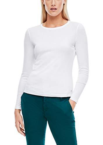 s.Oliver Damen T-Shirt Langarm White 38