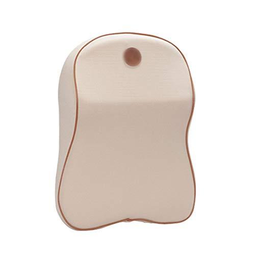 YABAISHI Memoria de Espacio Almohada de Cuello de algodón Coche Four Seasons Almohada Accesorios de Coche de Alta Gama Almohada de Cuello de Salud (Color : Beige)