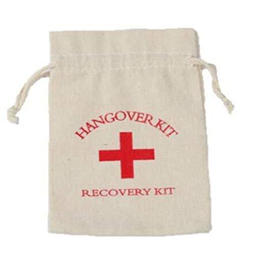 SNOWINSPRING 50Pcs Hangover Kit Bags Favores de la Boda Regalos para Invitados Bolsa de Titular Despedida de Soltera Suministros para Fiestas