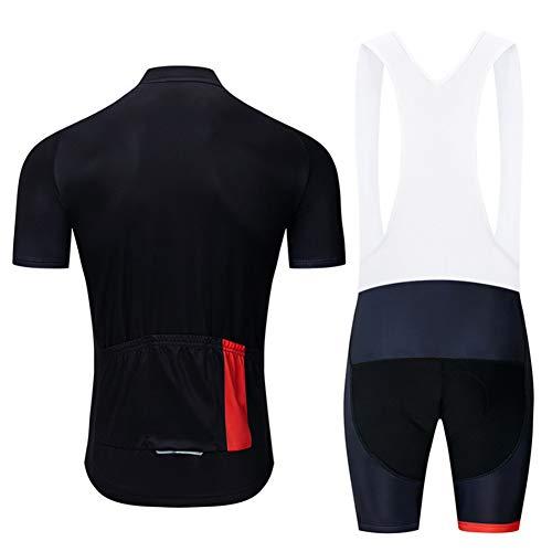 Weiwei - Maillot de ciclismo para hombre, de secado rápido, transpirable, para el verano y el aire libre, con acolchado 9D