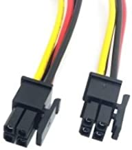 CY ATX Molex Micro Fit Connector 4Pin Male to Male Power Cable 60cm