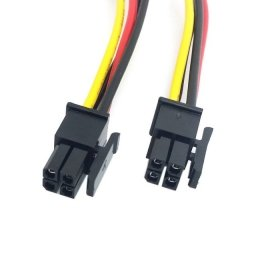 cablecc ATX Molex Micro-Fit-Anschluss 4pol Stecker auf Stecker Power-Kabel 60cm