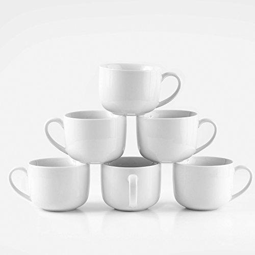 Amuse- Professional Barista Jumbo Cozy Mug for Coffee, Tea, Cocoa, Latte and Soup- Set of 6-16 oz