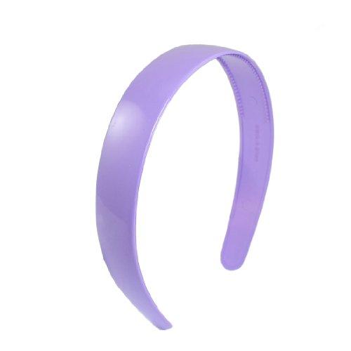 Rosallini Lady Purple Plastic Hair Hoop Headband Ornament w Teeth
