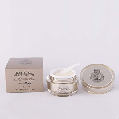 Rose Royale Gesichtscreme mit 2% Gelee Royale Bienenwachs Aloe Vera Extrakt Bienenkosmetik 50 ml
