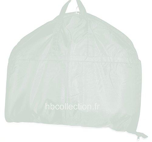 HBCOLLECTION Foldable borsa porta abiti da viaggio, Custodia per costumi bianco