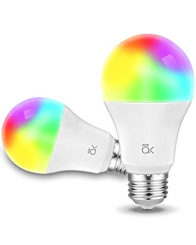 Smart Light Bulb, AL Abovelights A19 E26 9W WiFi LED Smart Bulb, Works with Alexa, Echo, Google Home & Siri (No Hub Required), Warm White, 60W Equivalent, ETL Listed (2-Pack)