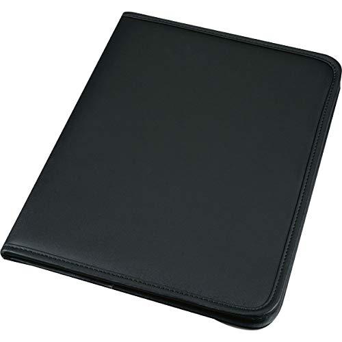 Alassio 30099 - Schreibmappe SAVONA im DIN A4 Format, Businessmappe aus FINEtouch-Lederimitat, Dokumentenmappe in schwarz, Mappe ca. 31 x 24 x 1,5 cm