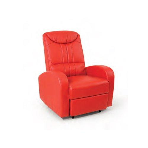 WEBMARKETPOINT Poltrona relax da salotto imbottita reclinabile rosso