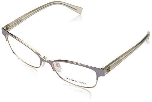 Michael Kors Palos Verdes Gafas de sol, Satin Light Gun/Rose Gold, 53 para Mujer