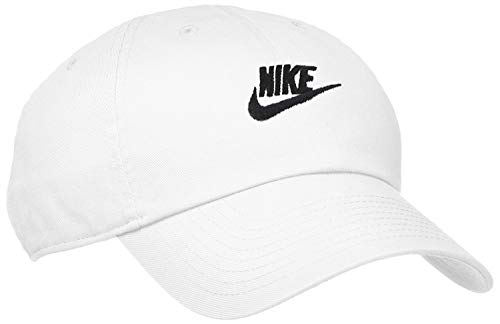 Nike Futura Washed Cap, White/White/Black, One Size