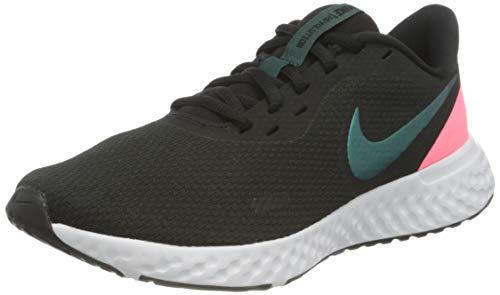 Nike Damen Revolution 5 Running Shoe, TM Best Grey/Dark Atomic Teal-Sunset Pulse-White, 39 EU