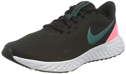 Nike Women's WMNS Revolution 5 Running Shoe, TM Best Grey Dk Atomic Teal Sunset Pulse White, 6 UK