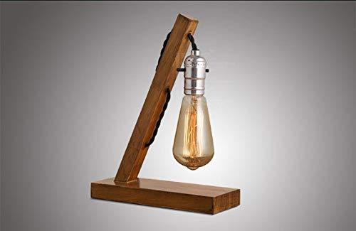 Modern design vintage Edison tafellamp in hout/bamboe tafellamp houten tafellampen voor woonkamer