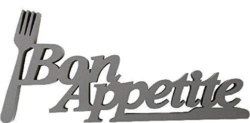 Home Collection Holz Schriftzug Holzschrift Holzspruch Bon Appetite 8,7x19cm