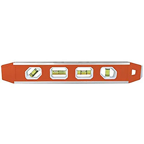 Johnson Level & Tool 1421-1200 12-Inch Magnetic Aluminum Reinforced Torpedo Level , Red