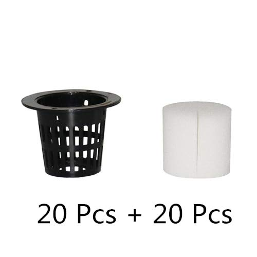 Best Quality - Nursery Pots - Mesh Pot Net Cup Basket Hydroponic System Garden Plant Grow Vegetable Cloning Seed Germinate Nursery Pots 20 Pcs - by SeedWorld - 1 PCs