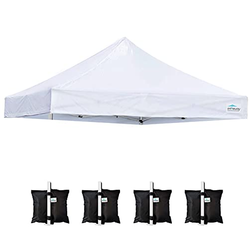 Ontheway 10' x 10' Replacement Canopy Top for EZ Pop Up Canopy Tent, Instant Canopy Top Cover ONLY