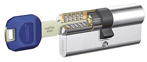 Kaba Cilindro Alta Seguridad + Refuerzo Matrix 30X50 Laton 5 Llaves LK Doble EMB+Lam, Dorado, 0