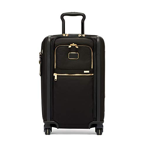 TUMI - Alpha 3 International Dual Access 4 Wheeled Carry-On Luggage - 22 Inch Rolling Suitcase for Men and Women - Black/Gold