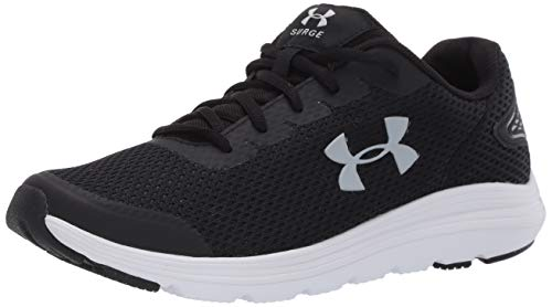 Under Armour Men's Surge 2 Running Shoe, Black (001)/White, 13