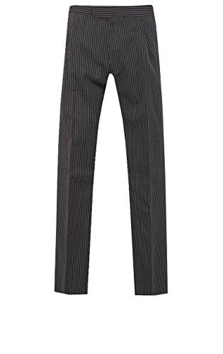Dobell Cut-Hose, schwarz-grau gestreift